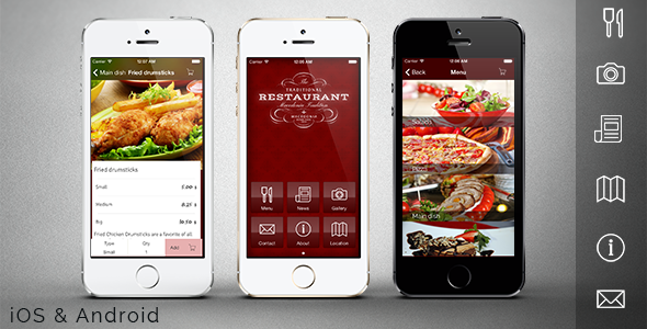 Free and premium themes download : Download Restaurant app