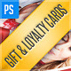 Gift Card / Loyalty Card Bundle (3in1) - GraphicRiver Item for Sale