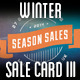 Winter Sales Card III - GraphicRiver Item for Sale