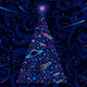 New Year and Christmas Tree. Cosmic Background - GraphicRiver Item for Sale