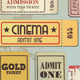 Vintage  Cinema Tickets - GraphicRiver Item for Sale