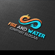 Fire And Water Logo - GraphicRiver Item for Sale