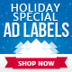 Holiday Special Web Ad Labels - GraphicRiver Item for Sale