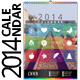 2014 Wall Calendar Template - GraphicRiver Item for Sale
