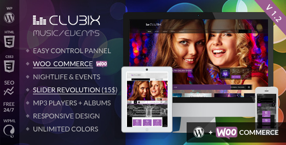 Clubix v.1.2.3 - шаблон для WordPress