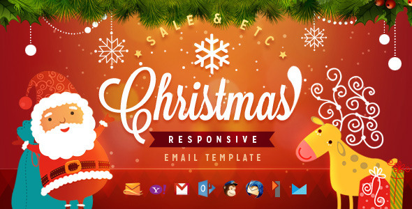 New Christmas Email Templates Responsivesocial Media And Tech Blog