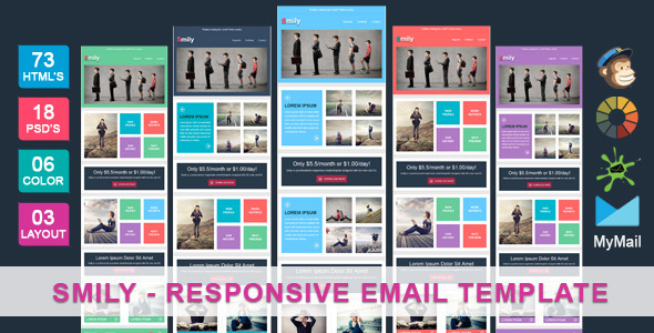 cool html email templates - smily clean cool responsive email template themeforest