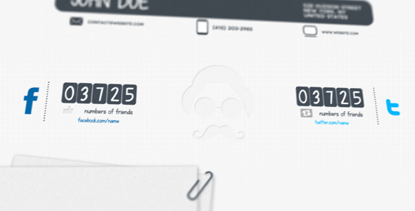 After Effects Project - VideoHive Modern Resume Motion 667146