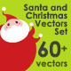 Santa and Christmas Vectors Set - GraphicRiver Item for Sale
