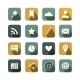 Vintage Social Media Icons Set - GraphicRiver Item for Sale