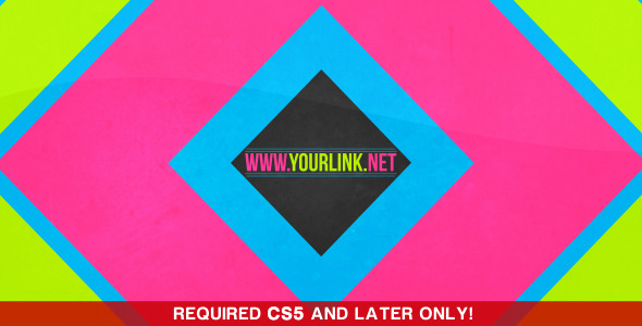After Effects Project - VideoHive Color Shapes Opener 668485