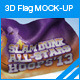 3d Flag Mockup - GraphicRiver Item for Sale