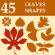 Leaves Custom Shapes - GraphicRiver Item for Sale