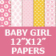 Baby Girl Digital Paper Pack - GraphicRiver Item for Sale