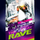 Modern Rave Music Party Flyer Template - GraphicRiver Item for Sale