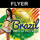 Brazil 14 Girls Night | Cup Match Flyer - GraphicRiver Item for Sale