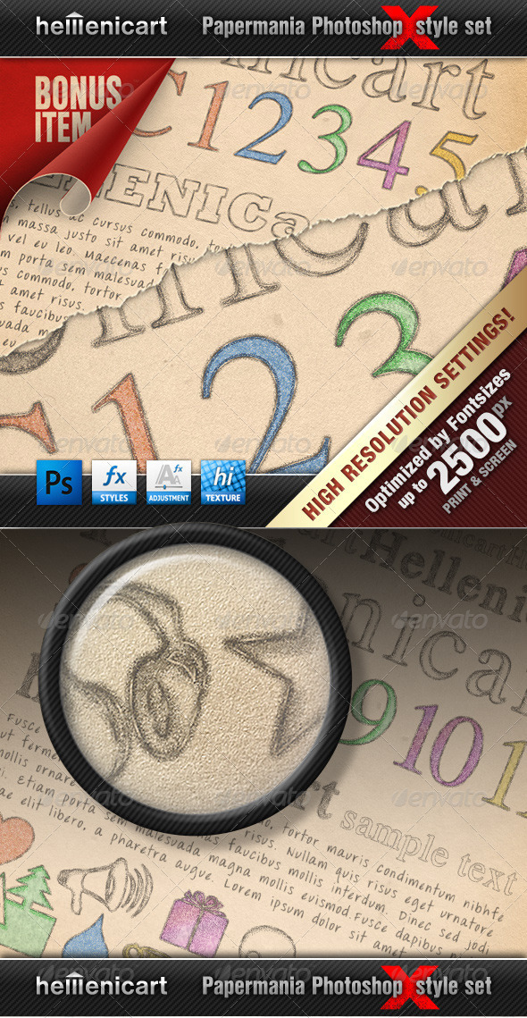 GraphicRiver Hellenicart PENCIL & CRAYON Style Set 670446