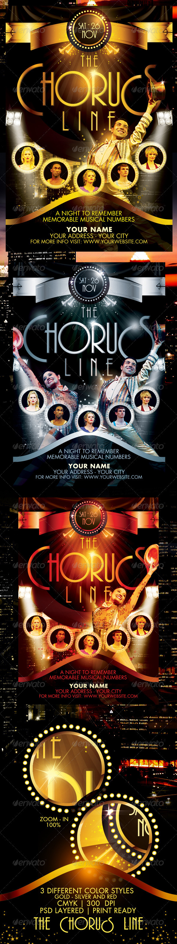 GraphicRiver The Chorus Line Flyer Template 671157
