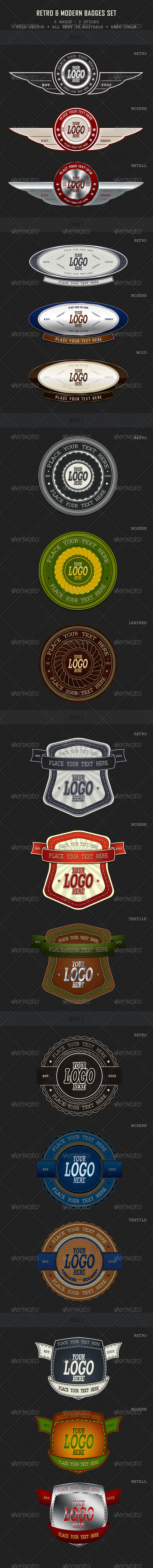 GraphicRiver Retro & Modern Badges 671779