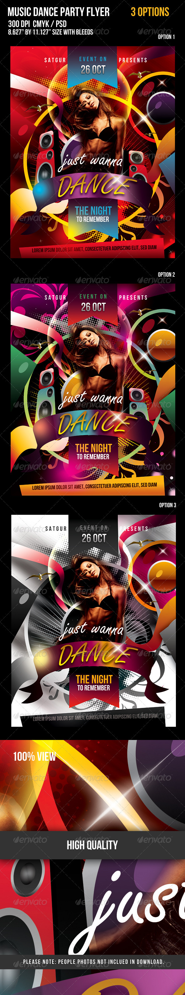GraphicRiver Music Dance Party Night Flyer 672082