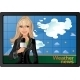 Blond Girl and Weather News - GraphicRiver Item for Sale