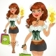 Sweet Shopping Fashion Girl - GraphicRiver Item for Sale