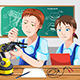 Students in Class - GraphicRiver Item for Sale