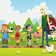 Kids on a Field Trip to a Farm - GraphicRiver Item for Sale