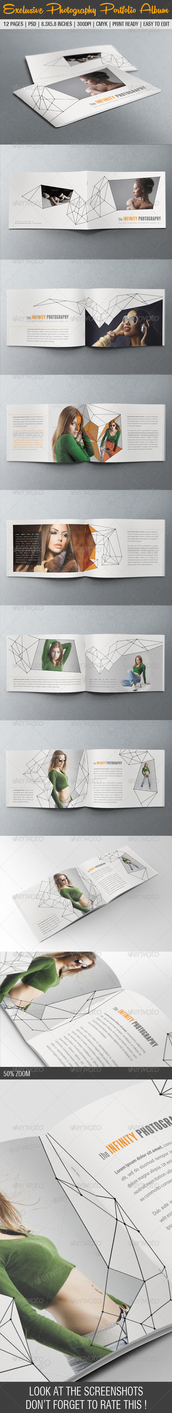 Exclusive Photography Portfolio Album 02 - Photo Albums Print Templates