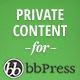 bbPress Private Content WordPress Plugin