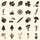 Vector Set of Plants Icons  - GraphicRiver Item for Sale