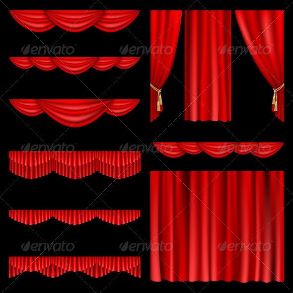 GraphicRiver Red curtains 674743