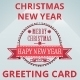 Christmas New Year Greeting Card - GraphicRiver Item for Sale