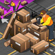 Isometric Packer at Work with Boxes - GraphicRiver Item for Sale
