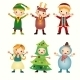 Children in Costumes Isolated - GraphicRiver Item for Sale
