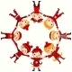 Christmas Children in Circle - GraphicRiver Item for Sale