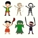Illustration of Kids in Halloween Costumes - GraphicRiver Item for Sale