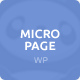 MicroPage | One Page Wordpress Theme - ThemeForest Item for Sale