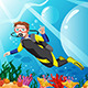 Scuba Diver in the Ocean - GraphicRiver Item for Sale