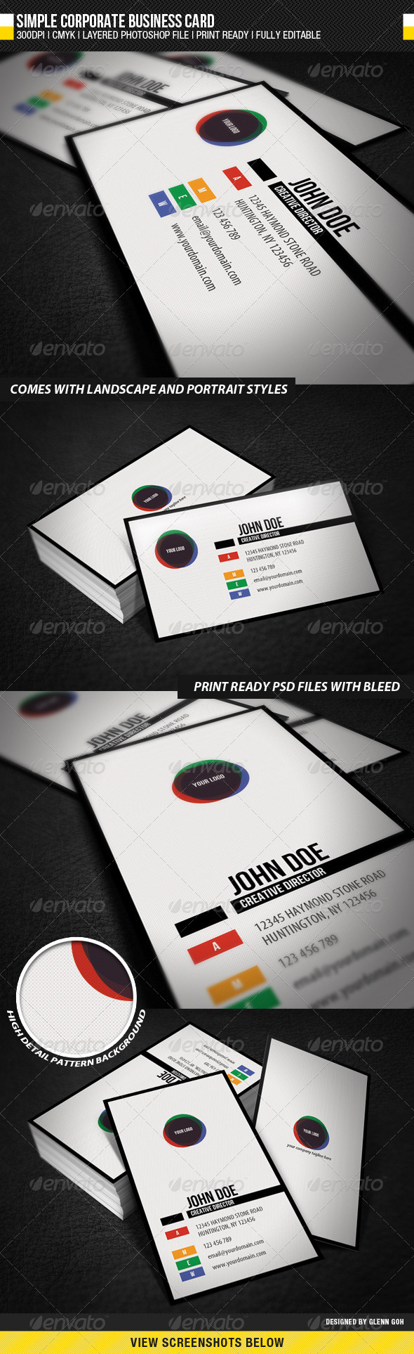 GraphicRiver Simple Corporate Business Card 676385