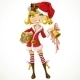 Girl in Santa Suit - GraphicRiver Item for Sale