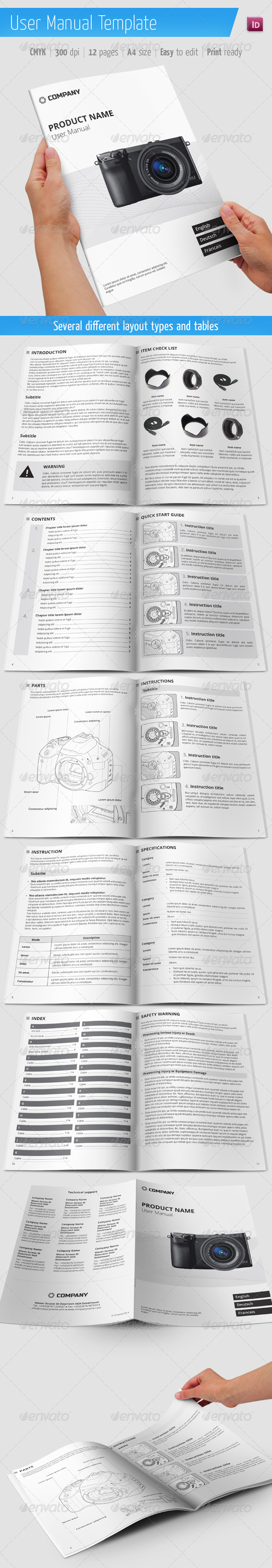 user manual document template - user manual template graphicriver