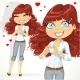 Girl Folded Heart out of the Hands - GraphicRiver Item for Sale