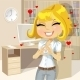 Blond Girl with Heart Shaped Hands - GraphicRiver Item for Sale