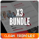 Clean Minimal Corporate Trifold Templates Bundle - GraphicRiver Item for Sale
