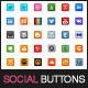 100+ Social Media Buttons - GraphicRiver Item for Sale