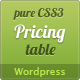Wordpress Pure CSS3 Pricing Table - CodeCanyon Item for Sale