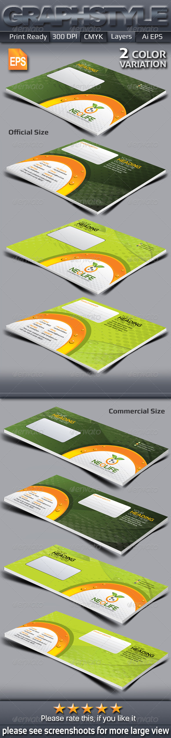 GraphicRiver Neolife Envelop Packaging 6489000