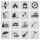 Vector Black Camping Icons Set - GraphicRiver Item for Sale