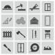 Vector Black  Carpentry Icons Set - GraphicRiver Item for Sale